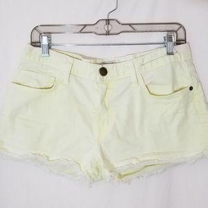 Current/Elliott Neon Yellow Boyfriend Shorts Sz 27